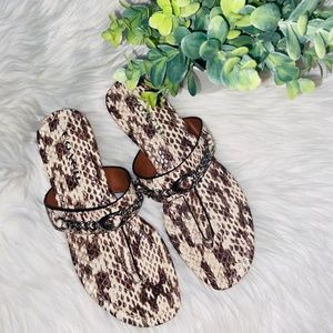 COACH Jaclyn Python Leather Sandals